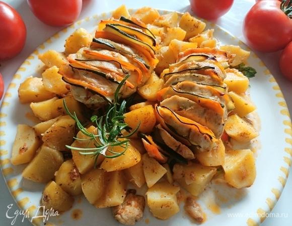 Куриное филе «гармошка» с картофелем