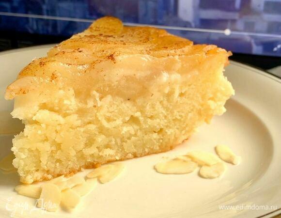 Пирог из рикотты с грушей