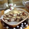 Шоколадные блины с творогом и бананом