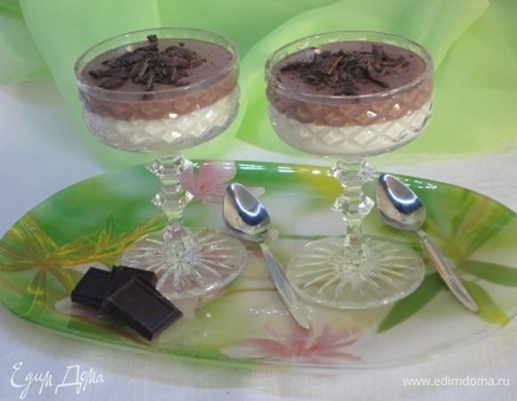 Шоколадно-ванильный десерт