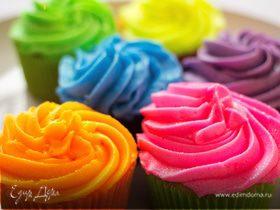 Сладкая радуга: цветные кремы для тортов без красителей
