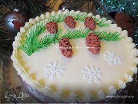 Новогодний МК: айсинговые шишки и еловая хвоя