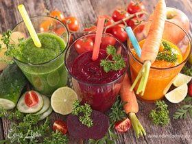 Восемь овощных соков: инфографика