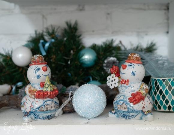 Гжельская новогодняя сказка: стильный интерьер и модные подарки