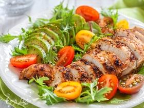 Конструктор салатов с куриным филе: инфографика