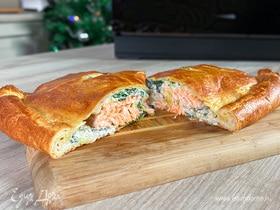 Олег жарит! Хрустящий пирог с лососем и шпинатом