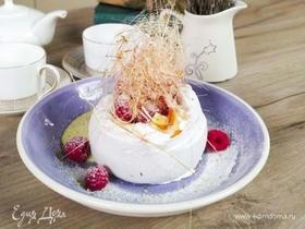 Олег жарит! Десерт «Павлова» с фисташковым кремом и малиной