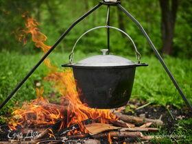 Готовим на природе: блюда в казане по мотивам полевой кухни