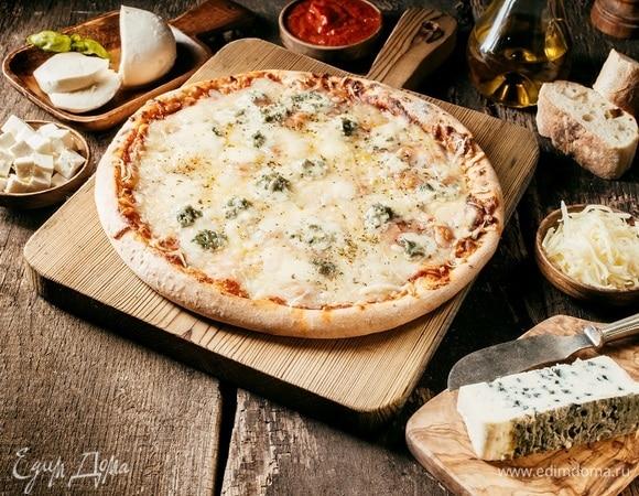 Во Франции приготовили рекордную сырную пиццу