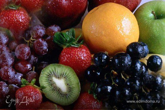 Фрукты/ягоды вымыть, отделить от косточек и измельчить. Можно протереть через сито или просто нарезать кусочками (как я обычно режу абрикосы).
