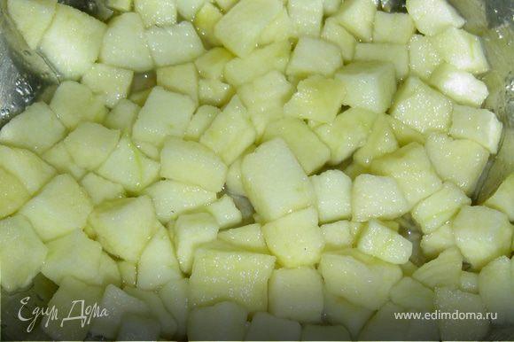 Отвариваем фасоль и свеклу. Свеклу очищаем и нарезаем небольшими кубиками.Яблоки очищаем и также нарезаем кубиками.Фасоль, яблоки,свеклу смешиваем,солим, перчим и заправляем смесью растительного масла и уксуса, аккуратно перемешиваем.Приятного аппетита!