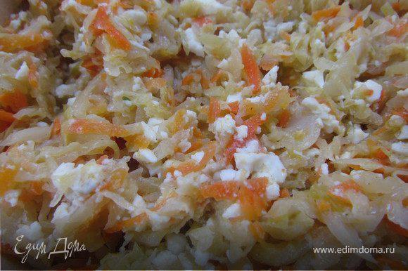 Начинка №1 - тушеная капуста. Надо нашинковать капусту, натереть морковку на крупной терке, нарубить лучок. Сначала овощи обжариваем на растительном масле, затем вливаем немного воды, всыпаем соль и приправы и тушим до готовности под крышкой. Отвариваем яйца, натираем их на крупной терке и перемешиваем с капустой. Когда капуста остынет, начиняем пирожки.