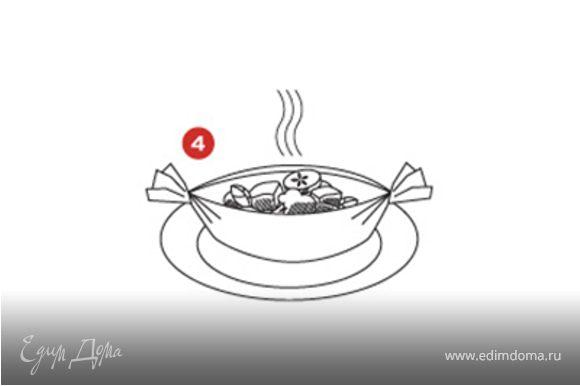 """СОВЕТ: Благодаря применению """"Кульков"""", """"Пакетов"""" и """"Лодочек"""" из кулинарной бумаги SAGA для каждой порции,можно учитывать личные вкусы, добавляя или убирая любые ингредиенты без особого труда."""