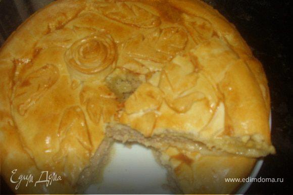 Пирог готов !Втно и запах пирога притянет моментально к столу!Море удовольствия ,стараний и вы в Эльзасе!