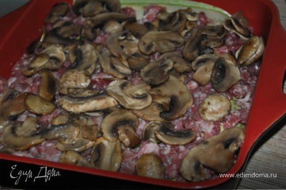 Слегка обжаренные грибы