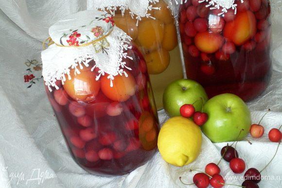 Так же можно готовить компот из других фруктов и ягод.