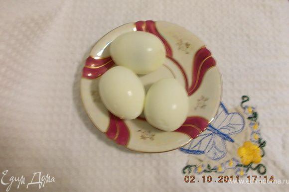 отварить яйца