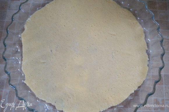 3. Выпекать в тартовнице (в аерогриле или духовке) при 230 С. Лепешка должна на пару сантиметров быть меньше формы.