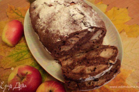 Охладить и посыпать сахарной пудрой. Или можно верх полить шоколадной помадкой.