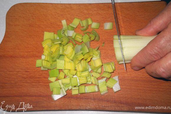 нарезаем лук-порей