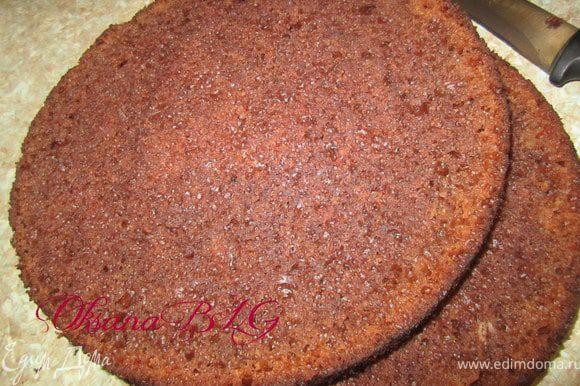 """Приготовить бисквит по рецепту http://www.edimdoma.ru/recipes/31029 разрезать на три коржа. Два пойдет на торт, один ка """"картошку"""""""