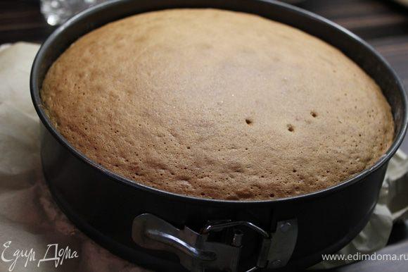 Дно формы выложить пекарской бумагой и смазать растительным маслом только дно!!! Бока не смазывать... Вылить тесто и выпекать 25-30 минут в разогретой духовке до 180 градусов... Готовность проверить деревянной шпажкой или зубочисткой.