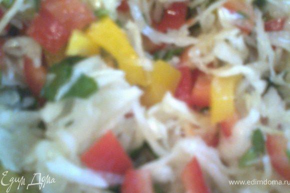 Добавляем яркий перец(можно разный по цвету)