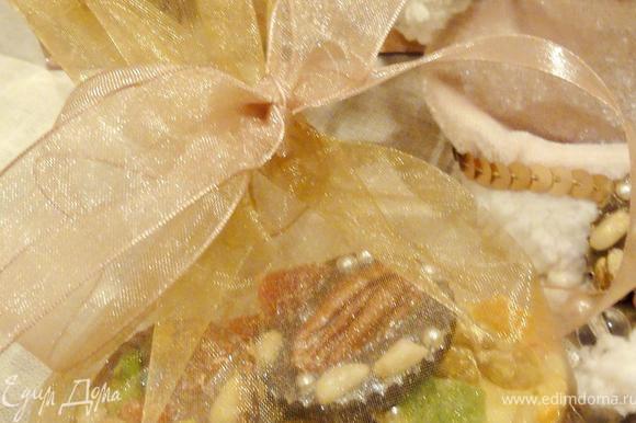 Возьмите мешочек из органзы или коробочку, а если вы будите дарить подарок девочке, то можно купить маленький кошелек)))