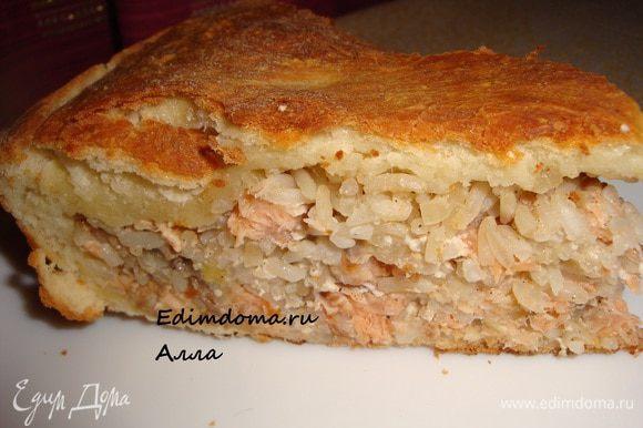 А если подать к такому пирогу сухое белое вино... Ммммм.., как вкусно!!!