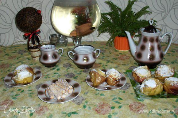 Посыпаем сахарной пудрой и получаем удовольствиееееее....очень вкусно!
