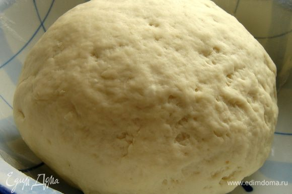 Из всех составляющих замесить мягкое,немного липкое тесто.