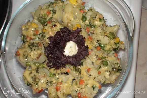 Фаршированный картофель готов=) Приятного Вам аппетита=)