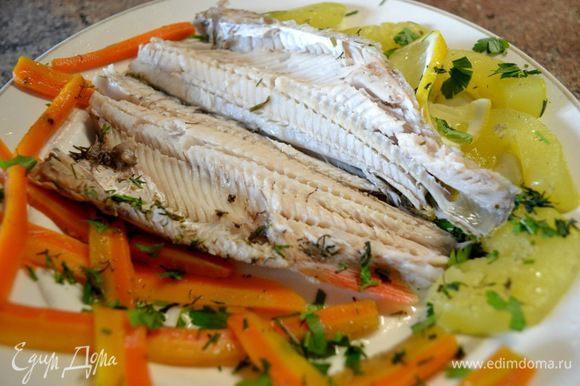 Диетически приготовленное блюдо тоже имеет право быть и обязано красивым!!!)