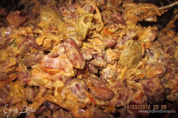 Заправить постным майонезом (как приготовить- http://www.edimdoma.ru/recipes/37877)