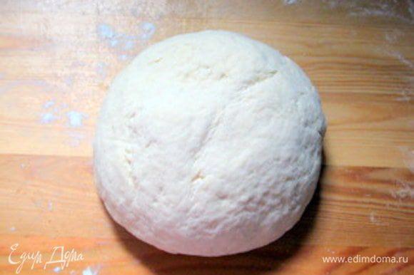 Смазать стеклянную миску оливковым маслом. Выложить тесто и оставить подниматься, накрыв влажным кухонным полотенцем, пока объём не увеличится вдвое.