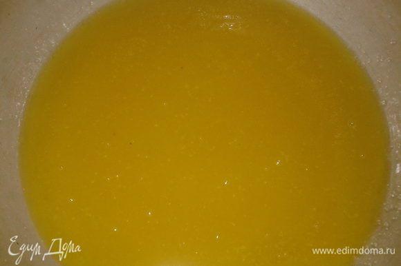 мёд,сахар и масло растопить,не доводя до кипения