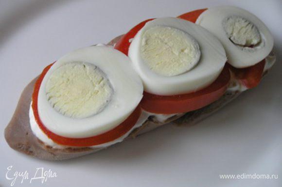 на них кружочки яиц,