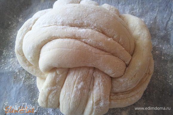 Вот так выглядит плетенка, после расстойки.