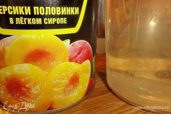 Из сиропа оставшегося от персиков и сахара сварите сироп для пропитки.