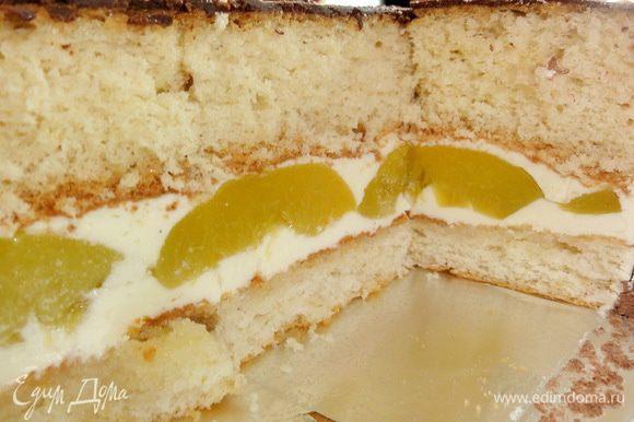 Вот так торт выглядел в разрезе)