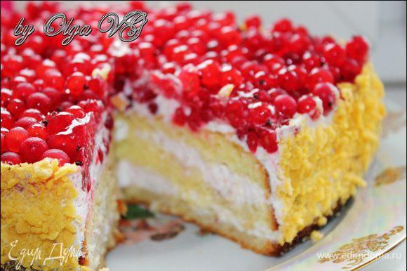 Вуаля, тортик готов!!! Кушайте на здоровья и приятного чаепития вам!!!***)