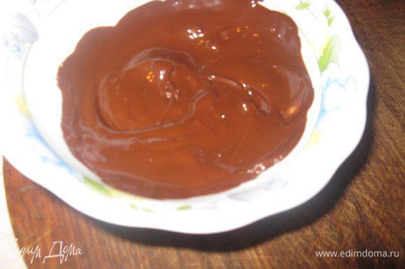 Шоколад растопить в микроволновке или на водяной бане