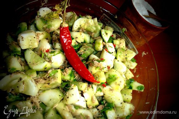 Через пару-тройку часов можно подавать к мясу или картошке вместо салата!