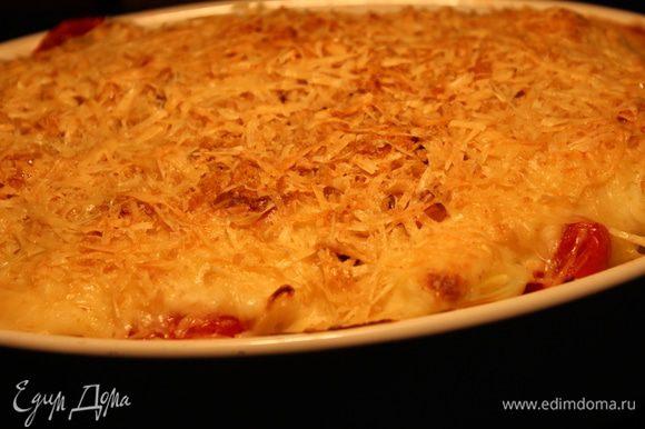 Блюдо готово! Подавать лучше горячим в качестве закуски или основного блюда, поскольку оно получается очень сытным, благодаря яйцам, сыру и орехам. Попробуйте...это очень вкусно!
