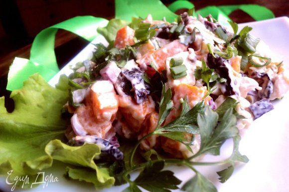 При подаче посыпать мелко порезанным зеленым луком и петрушкой. Приятного аппетита!
