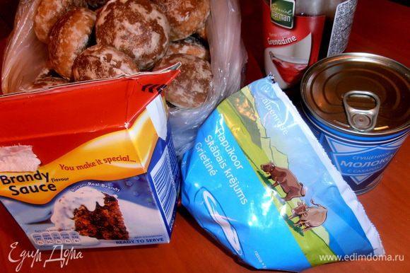 Продукты...Пряники можно не очень мягкие, подойдут, которые неудачно купили...