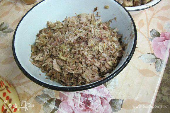 мясо режу мелко и проверяю чтоб не было мелких косточек