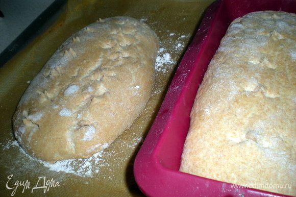 За это время хлеб вырос в два раза.Сделать на поверхности надрезы.
