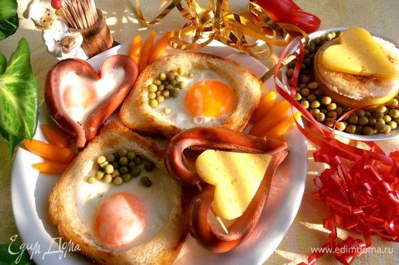 А вот такой завтрак получил любимый мужчина из женских рук))http://www.edimdoma.ru/retsepty/51591-zavtrak-dlya-lyubimogo-k-23-fevralya-parmalat