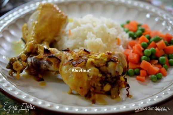 Готовое блюдо подаем с гарниром горячим. Приятного аппетита.